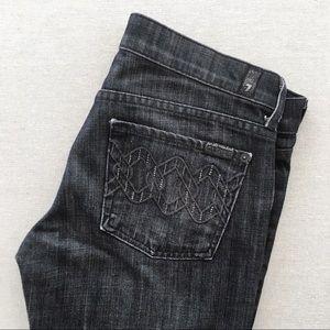 7MAN Dojo Crystal Chain Oxford Trouser Leg Jeans